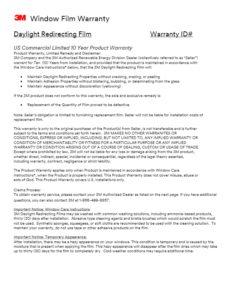 Daylight Redirecting Film | Warranty | Commercial Window Films | Epic Solar Control