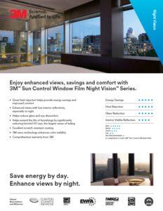 3M Sun Control Night Vision Series Home Window Film | Product Card | Epic Solar Control