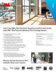 Commercial Window Film | Prestige Series Product Card | Epic Solar Control
