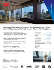 Ultra Night Vision Product Card | Commercial Window Films | Epic Solar Control