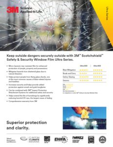 3M Ultra Series | Safety & Security Window Film | Epic Solar Control